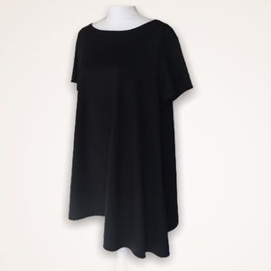 Alice & UO Ponte Asymmetrical Swing Black Dress